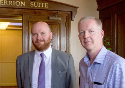 James Reilly (IHEEM), Kevin Walsh (SISK)
